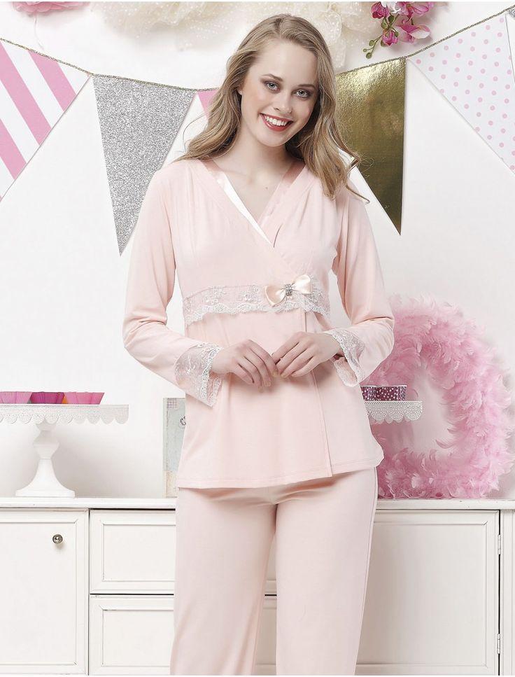 Aqua Lohusa Pijama Takım 17040 #lohusapijama #lohusagiyim #hamilegiyim #gizlicekmece #pembepijama #kadın #aqua #stil #indirimlipijama #anneadayı