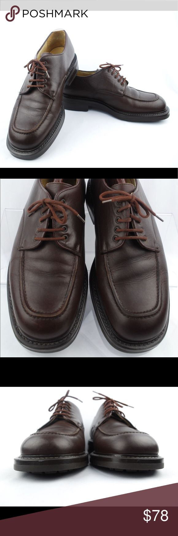 J.CREW Men's Brown Leather Moc Toe Lace Oxfords J.CREW Men's Brown Leather Moc Toe Lace Oxfords Shoes Made in Italy Size 10 M  Size: 10 M Color: Brown Design: 16311 Leather Upper + Lining / Synthetic Sole  Condition: Pre-Owned/ Excellent Used Condition, Please Check the Photos. J. Crew Shoes Oxfords & Derbys