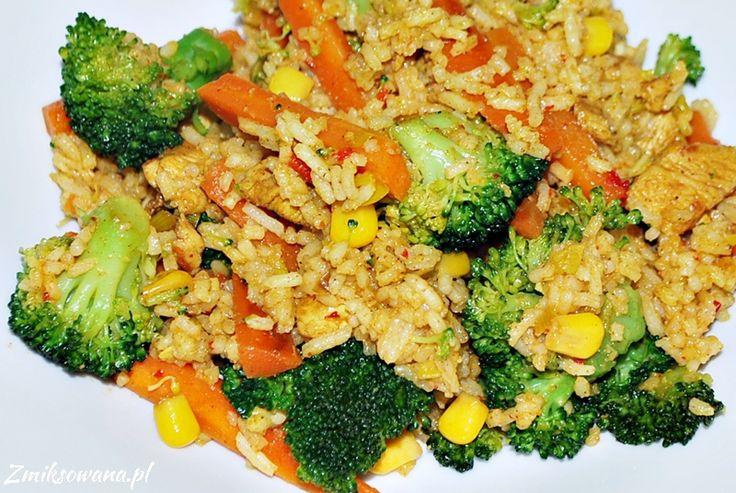#RyzSmazony z kurczakiem i brokułami poleca się na obiad :)