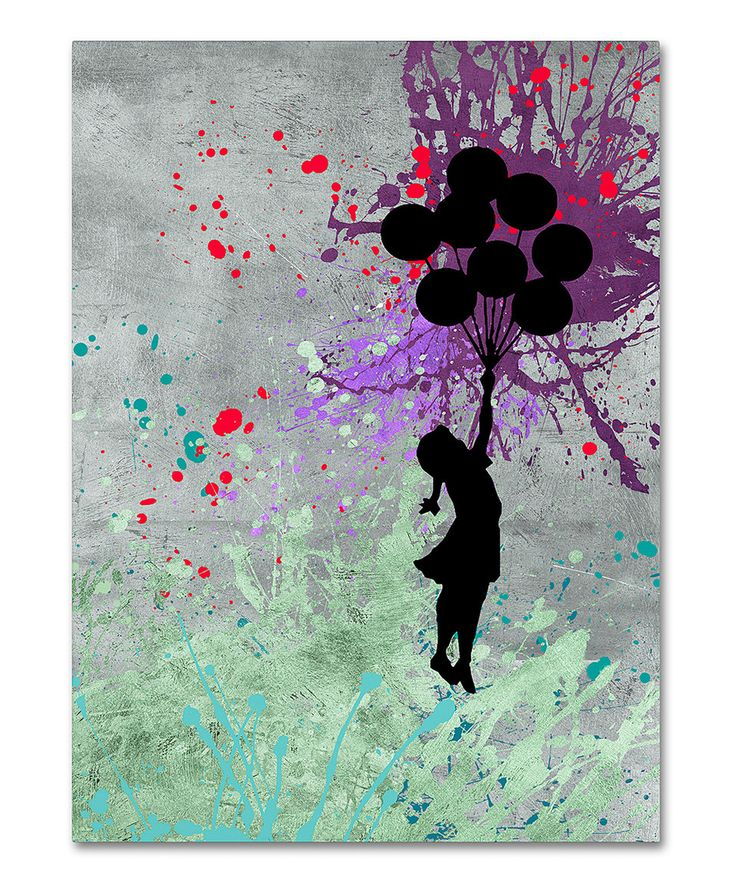 Banksy Flying Balloons Wrapped Canvas by Banksy #zulily #zulilyfinds