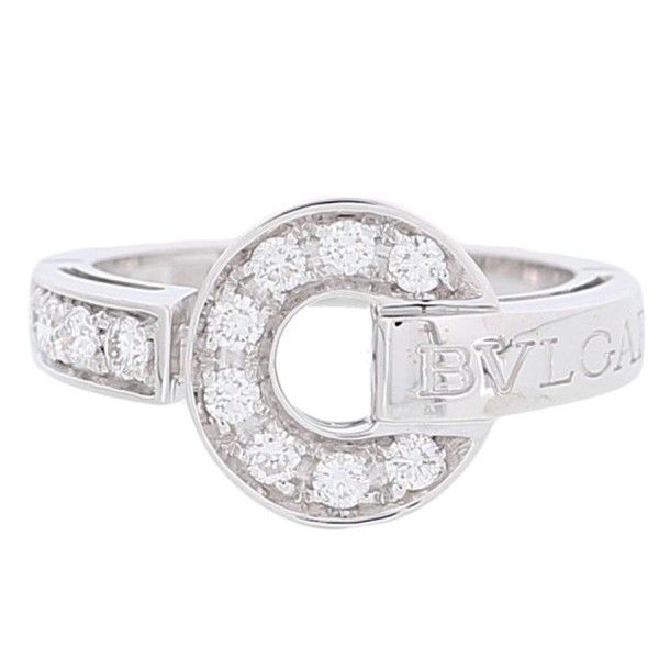 preowned bulgari 18k white gold diamond bulgari bulgari ring size
