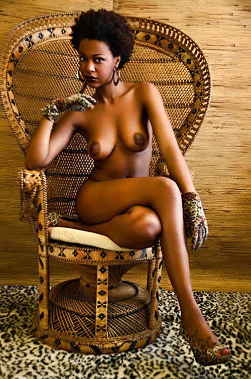 Young Sexy Nude Ethnic Black African
