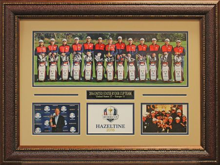 2016 USA Ryder Cup Panoramic Photo Collage Framed.