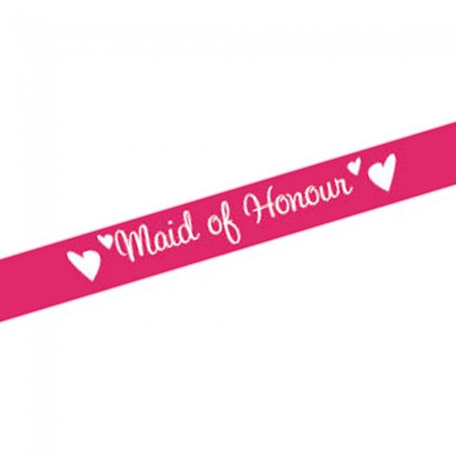 Pink Maid of Honour Sash