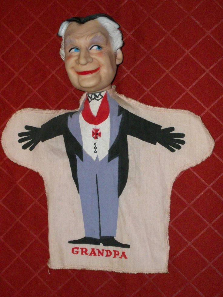 Vintage 1964 The Munsters Grandpa Munster Hand Puppet 2 Pink | eBay