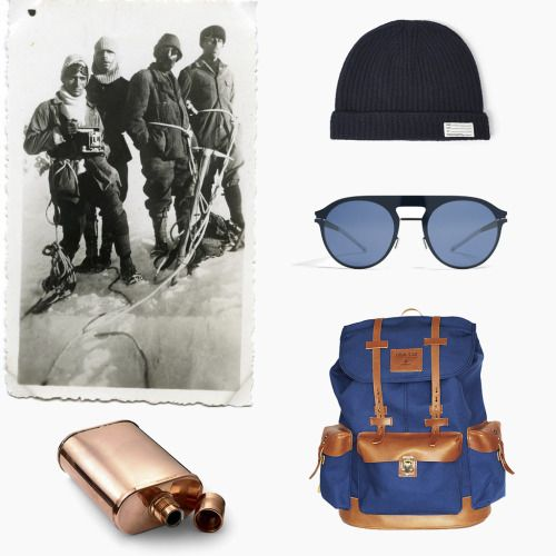 (ENG) - The romanticism and sense of adventure that surrounded the expeditions in the past can not be repeated today, for the technological advances and because much of the world have already been explored, however we propose the perfect set to replicate the style of yesteryear:- Wool Beanie by Visvim- Lester Sunglasses by Mykita- Valverde Backpack by Ideal & Co- Copper Flask at Kaufmann Mercantile//(PT) - O romantismo e sentido de aventura que rodeava as expedições no passado não pode ser…