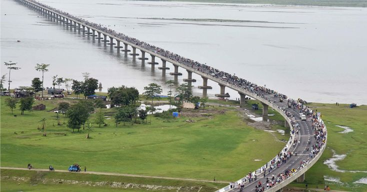 Prime Minister Narendra Modi recently inaugurated India's longest bridge – the 9.15 km long Dhola-Sadiya bridge, over the River Brahmaputra, in Assam.