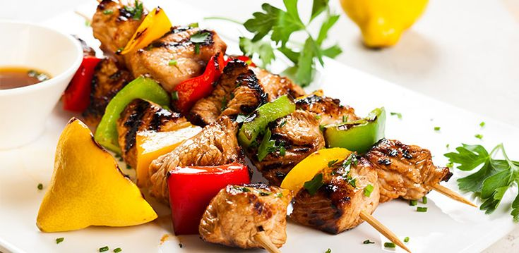 Spring lemon and rosemary chicken kebabs