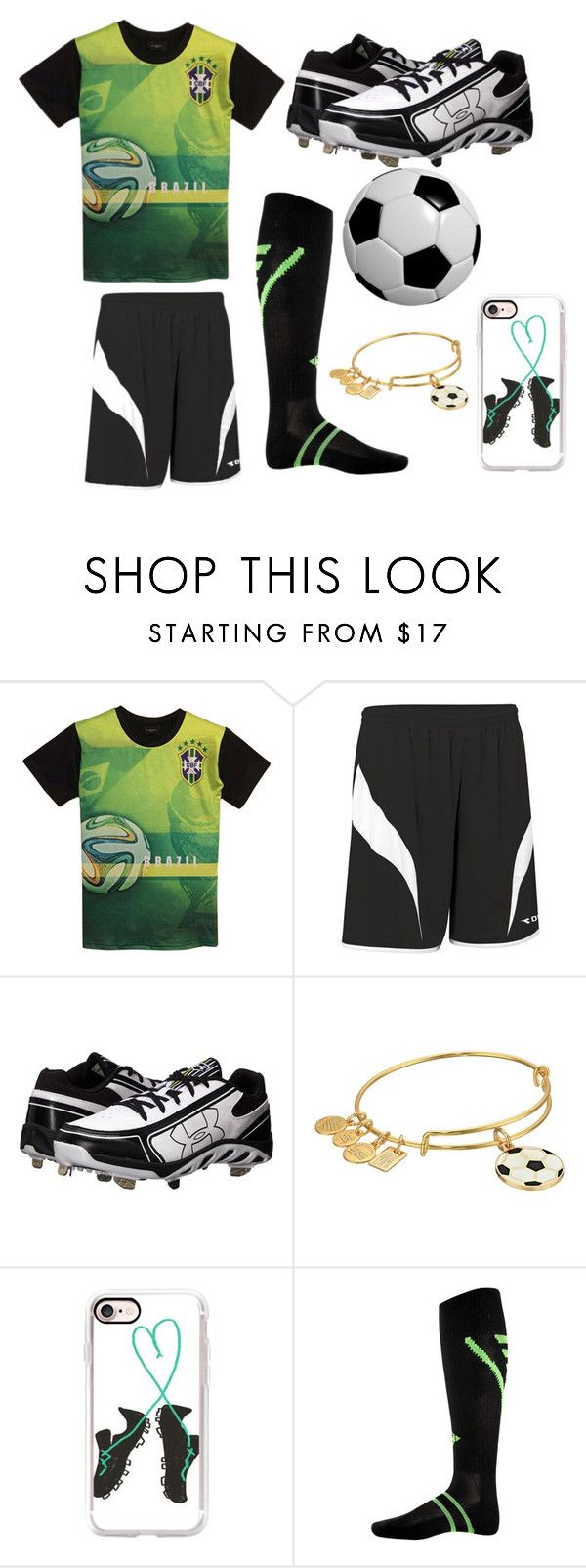 """""""soccer player"""" by lauren53103 on Polyvore featuring Diadora, Under Armour, Alex and Ani, Casetify, Franklin, Costume and soccerplayer"""