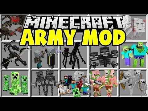 Minecraft ARMY MOD | MAKE ANY MINECRAFT MOB FIGHT FOR YOU