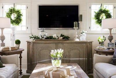 Le projet avant réalisation. La télé est très présente dans la décoration... /////////   A flat screen TV without DressmyTV concept
