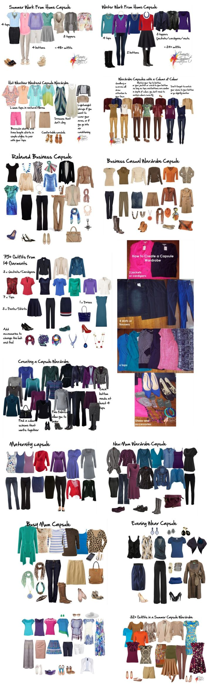 Multiple Capsule Wardrobe examples - Capsule wardrobe, Imogen Lamport, Wardrobe Therapy, Inside out Style blog, Bespoke Image, Image Consultant, Colour Analysis