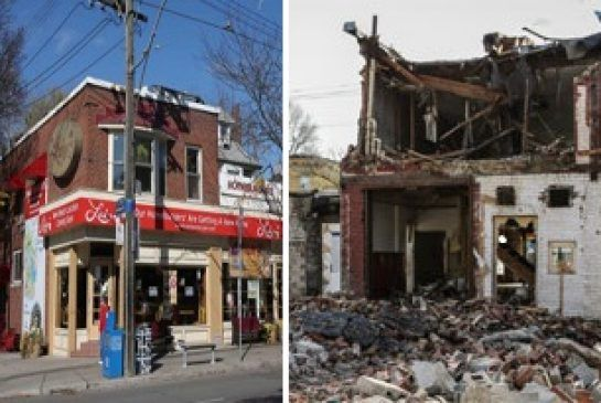 Death of an icon: Demolition begins on Lick's in the Beach. #Toronto #Photos.