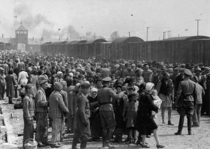 The arrival and processing of an entire transport of Jews from Carpatho-Ruthenia, at Auschwitz-Birkenau extermination camp in Poland, in May of 1944
