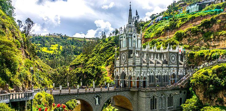 paisajes bonitos de colombia Catedral de Las Lajas Santuario Nacional de Las Lajas