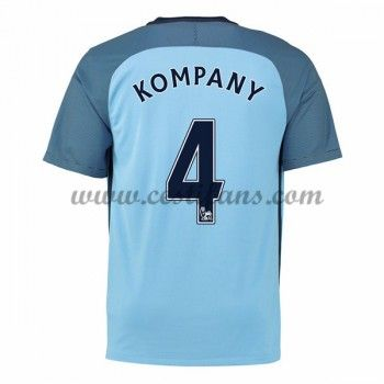 Manchester City Fotbalové Dresy 2016-17 Kompany 4 Domáci Dres