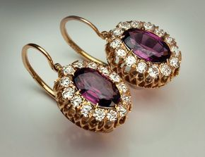 Antique Earrings - Natural Pearl and Diamond Gold - Antique Jewelry | Vintage Rings | Faberge Eggs