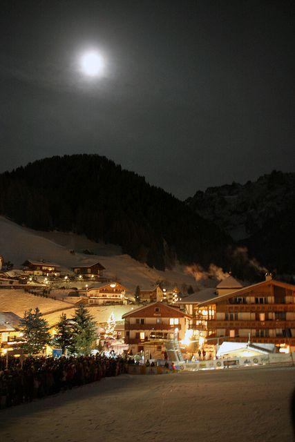 Fiaccolata, Selva, Val Gardena, Trentino-Alto Adige, Italy