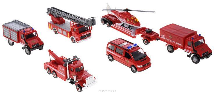 Welly Игровой набор Пожарная команда 8 предметов