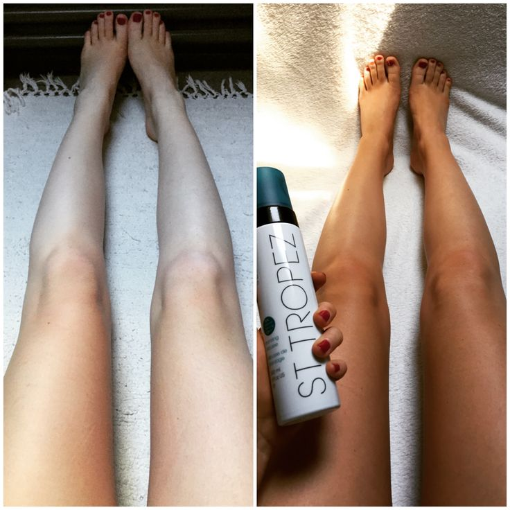 St. Tropez Tan Mousse Before And After! Www.rx