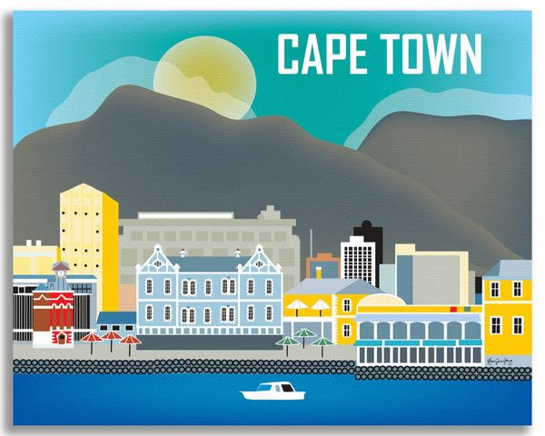 Loose Petals Cape Town South Africa canvas wrap prints and city travel posters make art print gifts and South African souvenirs for all ages and both sexes.