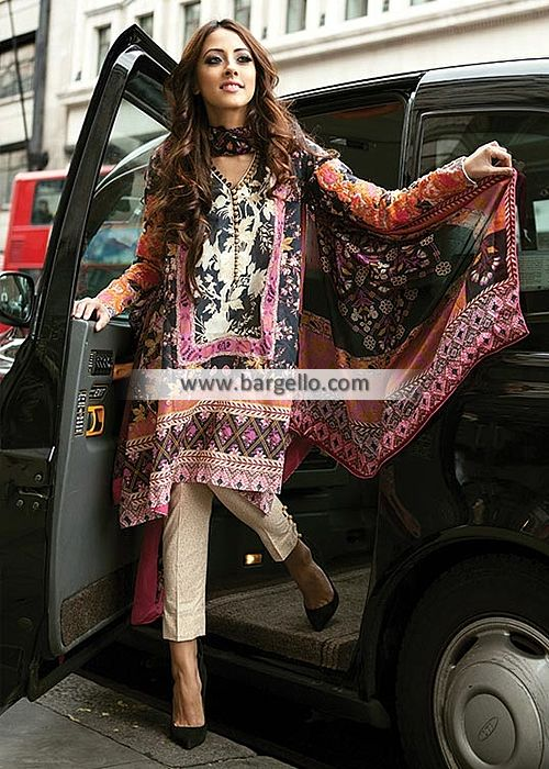 288 best images about lawn dresses on Pinterest | Pakistan fashion ...