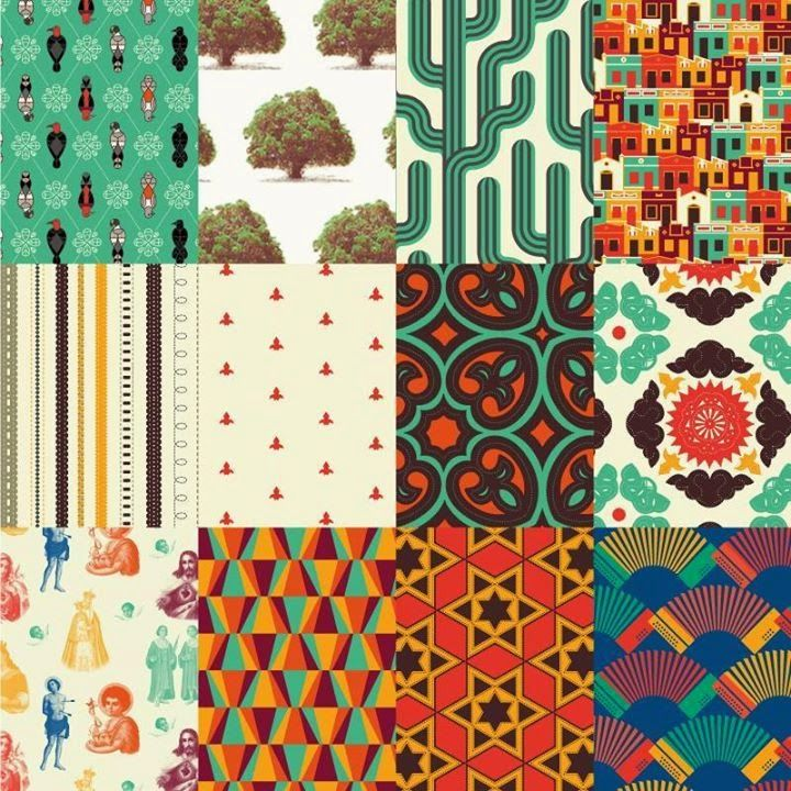 Estampas Gonzaguianas de Guilherme Luigi - #design #superficie #padronagem