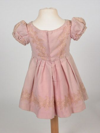 1860-1870 - Child's Dress of lace and wool. Front. Killerton Fashion Collection © National Trust / Sophia Farley and Renée Harvey