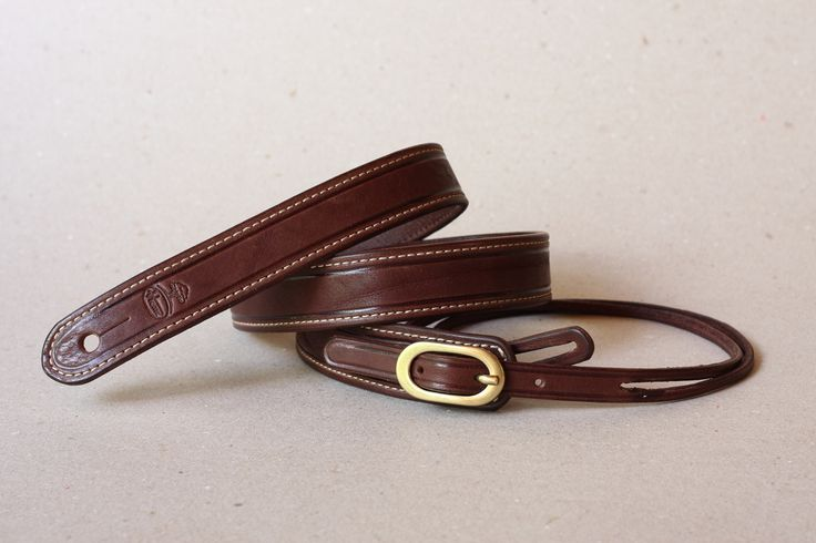 mandolin strap, simple design with brass buckle