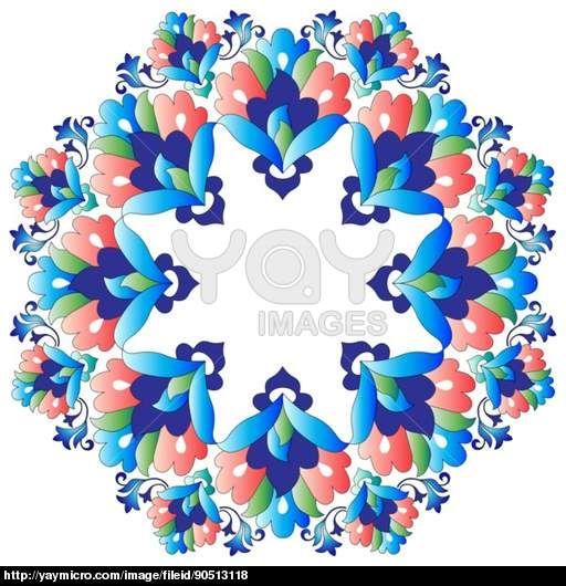 Ottoman motifs design series with nineteen version