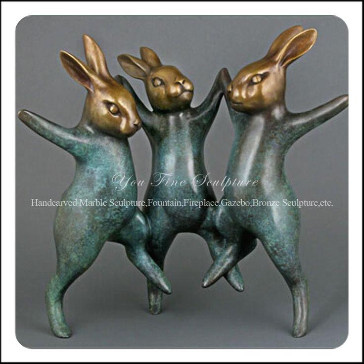 tuin happy haas bronzen levensgrote standbeelden-folk ambachten-product-ID:60239173201-dutch.alibaba.com