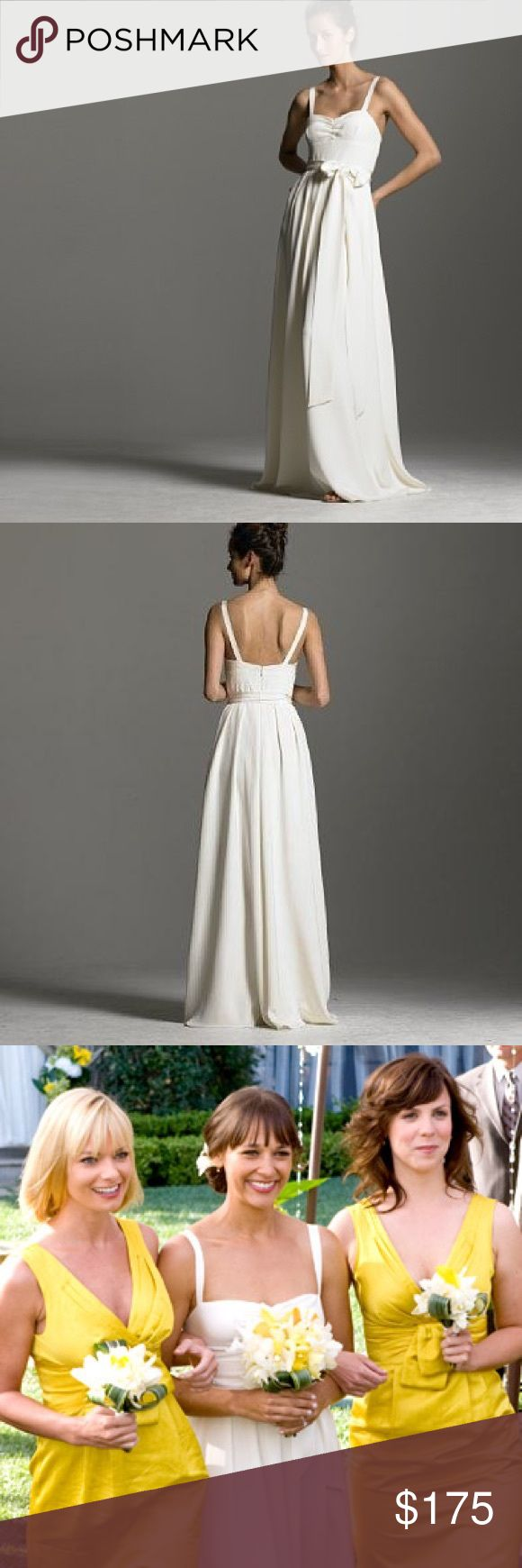 """J. Crew Rebecca Wedding Dress - NWT Brand new simply gorgeous J. Crew Ivory Rebecca Wedding Dress. Have one Size 8 and one Size 10, Silk tricotine. This dress is the same style as the one worn in the movie """"I Love You Man"""". J. Crew Dresses Wedding"""