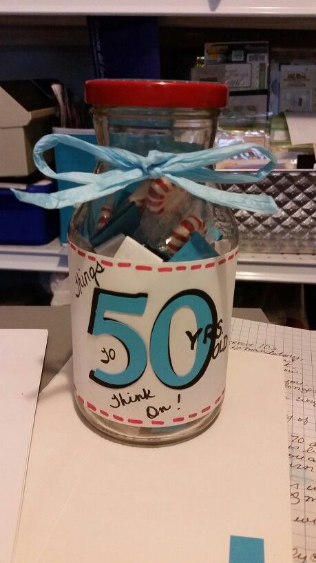made for my sisters 50th birthday. has sayings good and bad about being 50