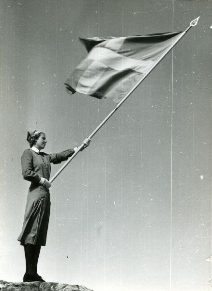 Skeppsholmen, Stockholm, 1943. Marinlotta.