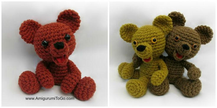 Browning the Bear With Egg and Without ~ Amigurumi To Go