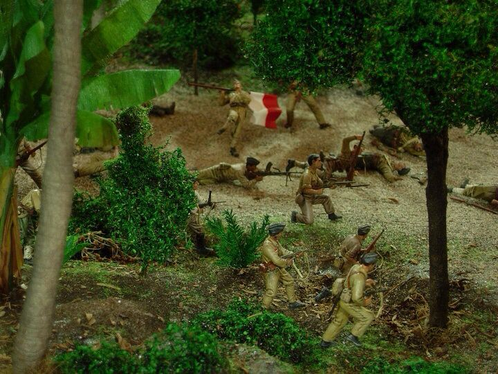 TNI in action, hit and run tactic, 6 hour battle in Jogjakarta, Indonesia 1/35 scale diorama by ademodelart
