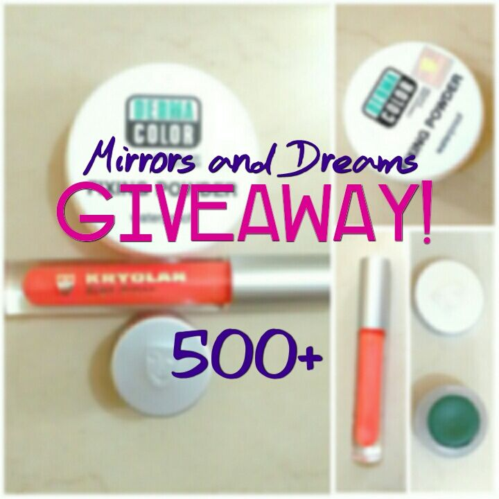 Having crossed the milestone of 500 followers, I'm having my first #giveaway on #Instagram! Come participate to win #goodies from Kryolan worth over 2,000 INR <3 #India #beauty #beautyblog #makeup #beautyproducts #kryolan #beautyblogger #indianblog #blog #fashionblog
