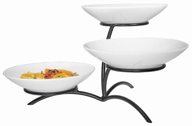 3 Tier Round Bowl Display Stand