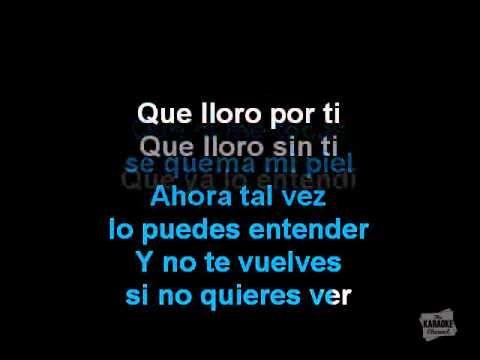 Karaoke  Que Lloro  -  Sin Bandera  www.clubkaraoke.cl