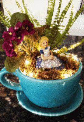 17 Best Images About Alice In Wonderland Fairy Garden On Pinterest Miniature Fairy Gardens