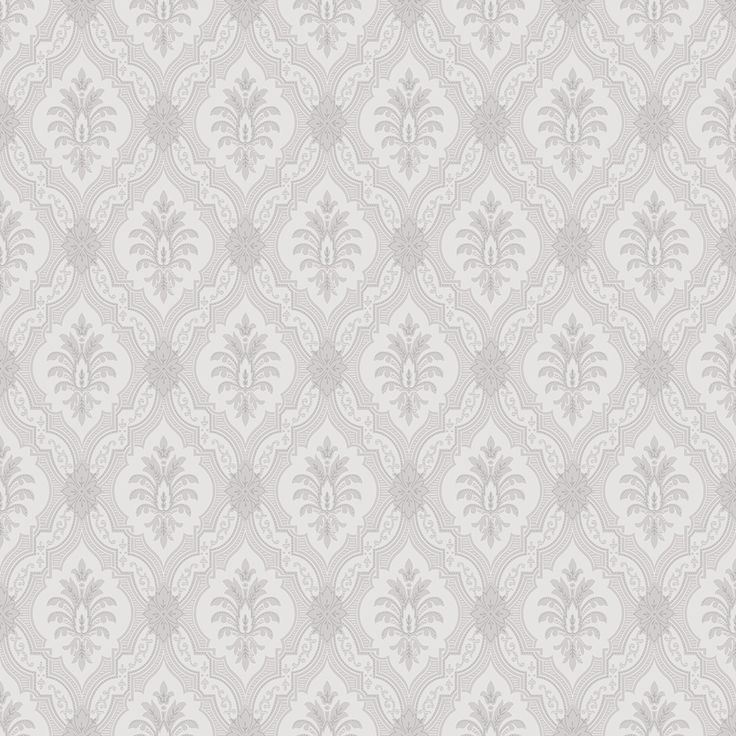Boråstapeter Lily Grey and White Wallpaper main image