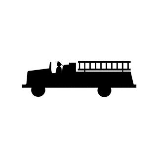 Fire truck clip art | Silhouette Cameo Projects ...
