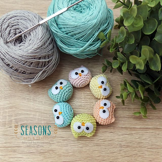 Pastel baby owls amigurumi are ready for upcoming freeworkshop in Jakarta. Stay tune everyone :) This cute one is available on Ravelry site.  #amigurumi #owlamigurumi #babyowl #ravelry #crochet #handmade #cuteamigurumi #freeworkshop #amigurumiworkshop #workshopjakarta