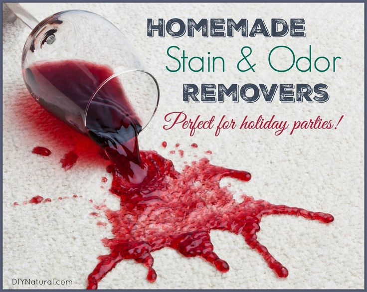Homemade stain remover for holiday spills stains odors