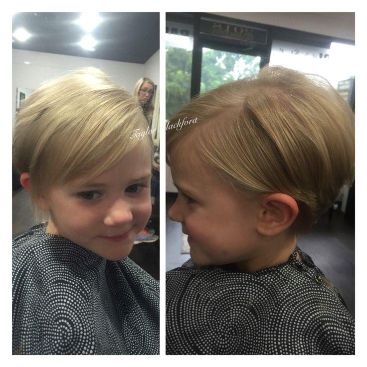 Precious pixie cut on this little girl! Perfect haircut for fine hair Ig: tayyrae11