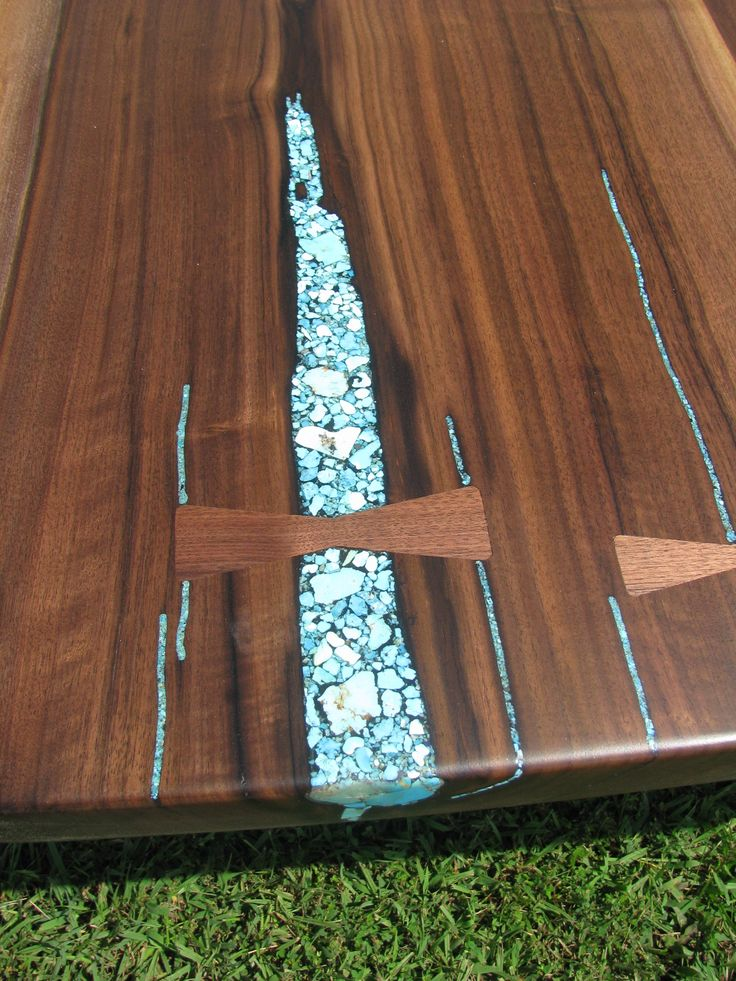 terry so loved our inlaid tables that she gemstones in her stone fireplace and ordered this gem of a table