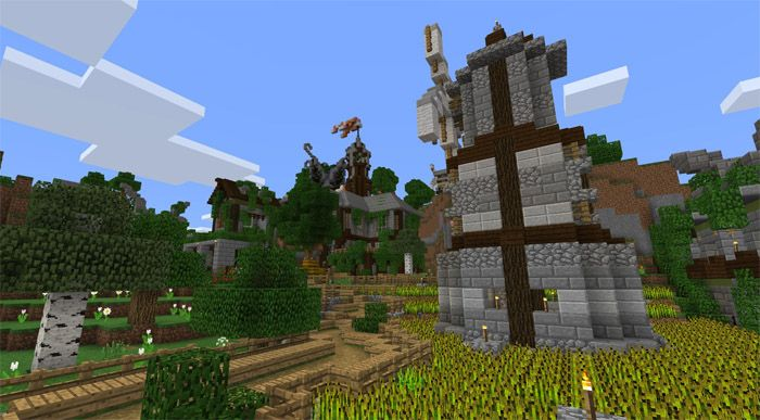 Founded in 2015, Fantasy Craft [Creation] Map became a favorite medieval map for many players. You will find interesting to discover a medieval kingdom there. It has a small town, a lumber mill, a ranch, two bases and other beautiful destinations. Besides, there are still empty places there... http://mcpebox.com/fantasy-craft-creation-map-minecraft-pe/