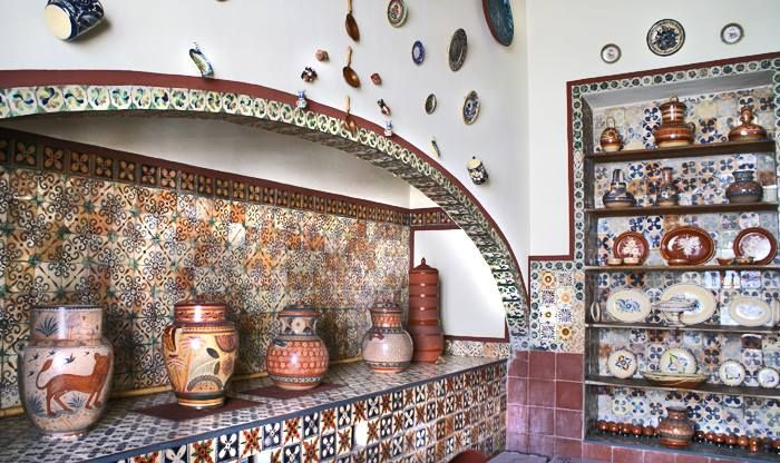 Detalle de fogon con talavera mexico cooks for Azulejos estilo mexicano
