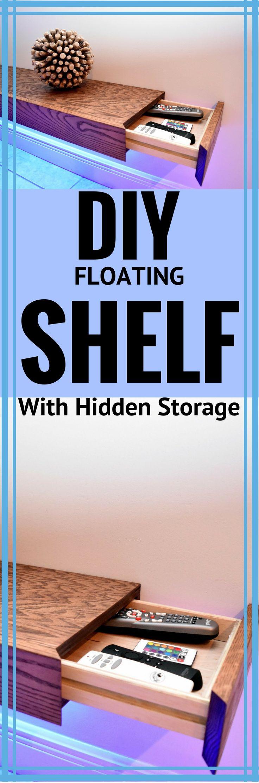 DIY Floating Shelf With Hidden Storage http://vid.staged.com/DdZs