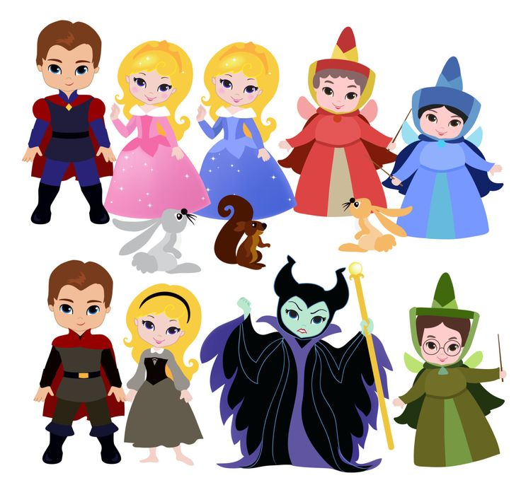 Sleeping Princess Digital Clipart / Cute Princess Digital Clipart for Personal and Commercial use / INSTANT DOWNLOAD         April 02, 2014 at 11:32PM